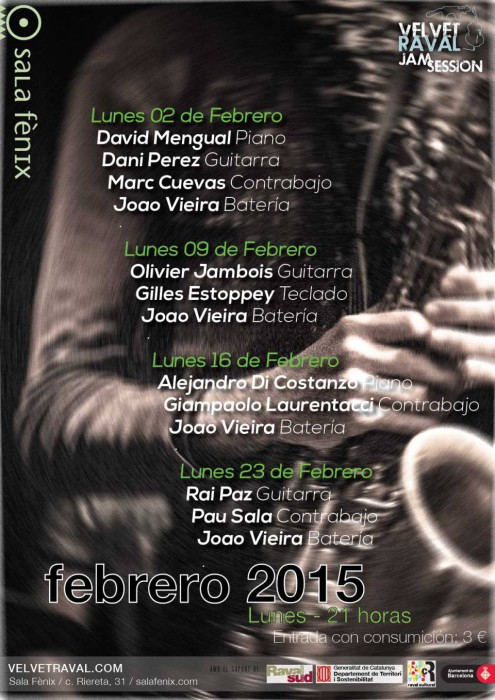 Velvet Raval Jam Session febrero