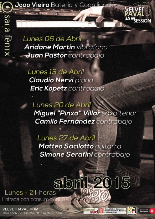 Velvet Raval Jam Session-abril 2015