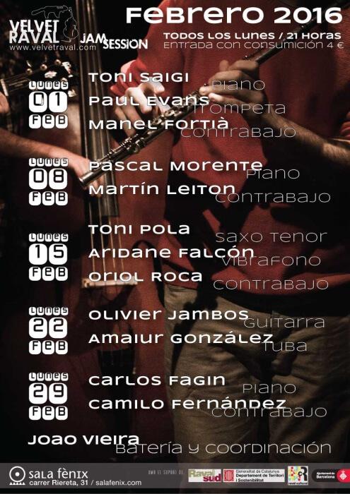 Velvet Raval Jam Session - febrero 2016