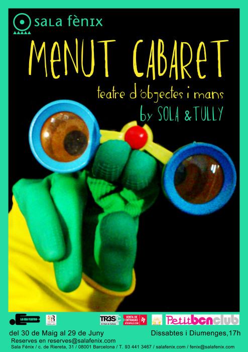 cartel CABARET MENUT