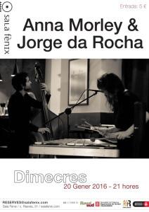 cartel concierto Anna Jorge